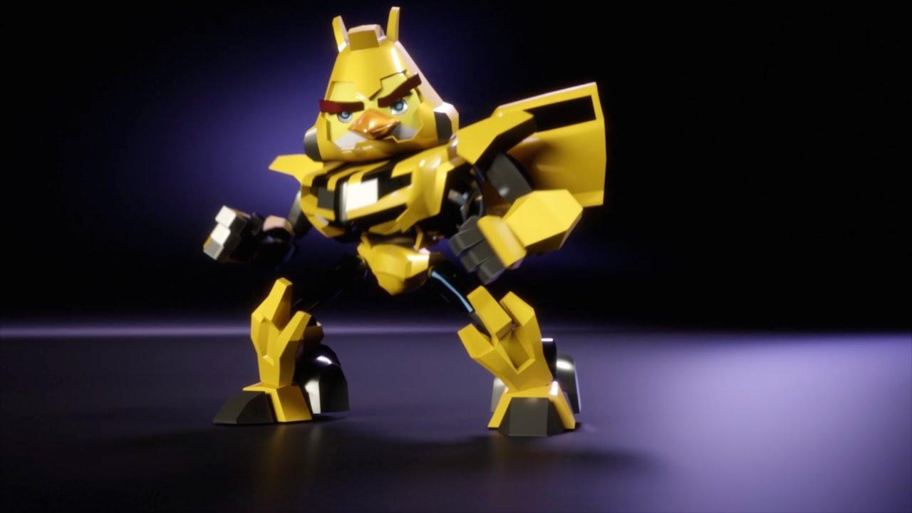 Bumblebee 3d Wallpaper Angry Birds Transformers Chuck As Bumblebee Youtube