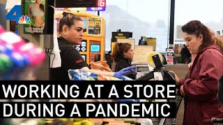 What It's Like to Work at Grocery Store During the Coronavirus Panic | NBCLA
