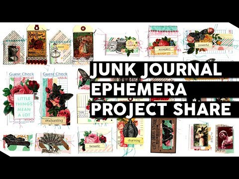 Junk Journal Ephemera Project Share & Introducing Newest Printables No. 4