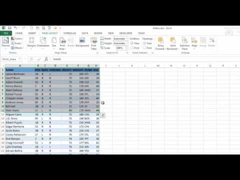 Print Friendly Worksheets in Excel 2013 - Repeat Rows, Freeze Panes and More