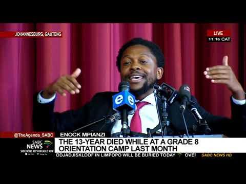 Enock Mpianzi I EFF's Mbuyiseni Ndlozi pays tribute