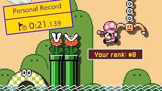 I Reached TOP 10 in the New Ninji Speedruns (Swinging Claw Flyway) — Super Mario Maker 2