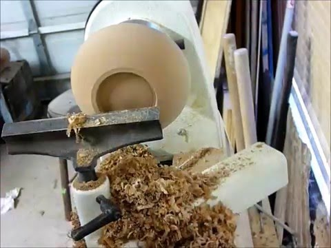 how to turn a simple bowl from a log on your lathe - YouTube