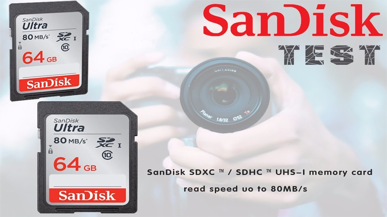 Test Sandisk Ultra 64gb Class 10 Sd Sdhc Sdxc Memory Card Youtube 16gb Speed 80