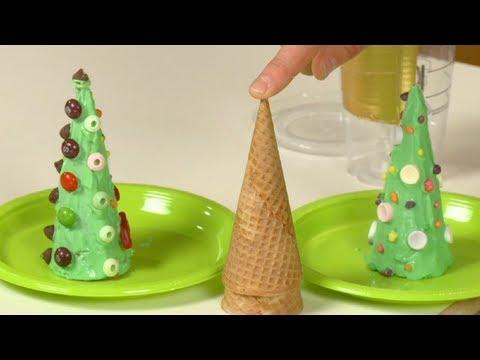 How To Make An Ice Cream Cone Christmas Tree