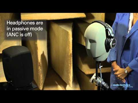 ATH-ANC7b QuietPoint® Active Noise-Cancelling Headphones Demonstration