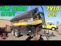 7x14 DUMP TRAILER Setup w/ LESCO Debris Loader For Leaf Clean Up!