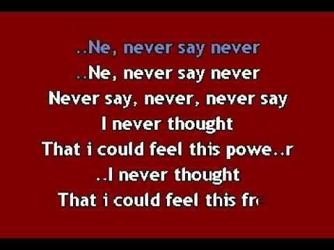 Justin Bieber  Never say never KARAOKEavi