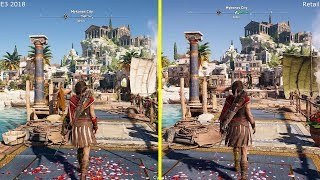 Assassin's Creed Odyssey E3 2018 vs Retail Xbox One X Graphics Comparison