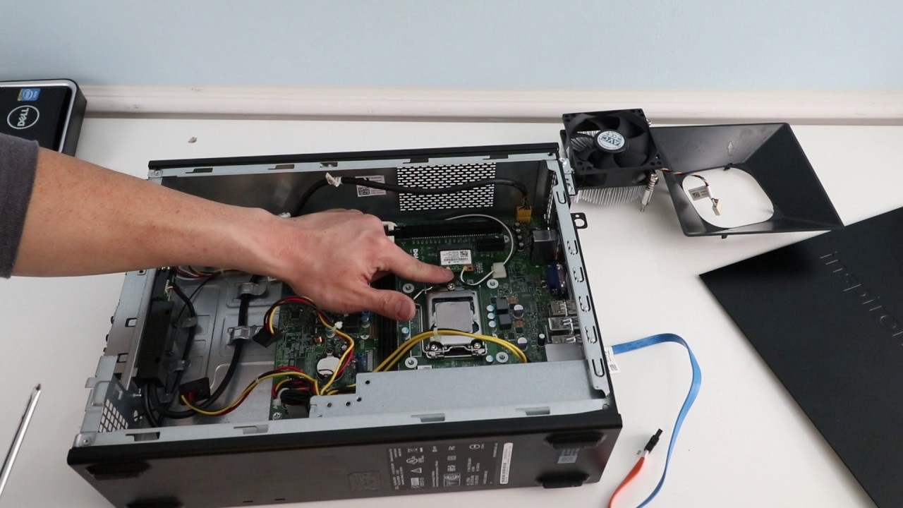 Disassembly Dell Inspiron Small Form Factor PC- Upgrade Ram & SSD
