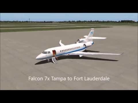 [FULL FLIGHT] [HD] Falcon 7x Tampa to Fort Lauderdale