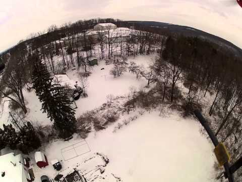 FPV Quadcopter over Goody's in Philipsburg, PA rt 350 cold, WINDY.MP4