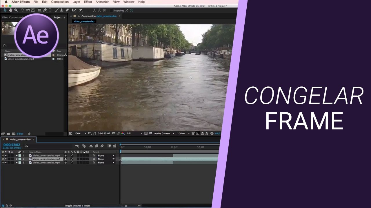 CONGELAR FRAME - Tutorial After Effects - YouTube