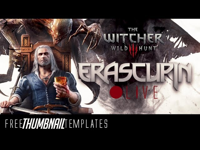 [???? LIVE The Witcher 3] Thumbnail Template