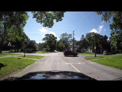 Driving through Iowa City Downtown in 4K