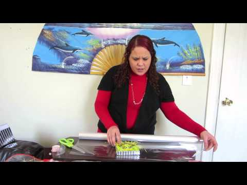How To Cellophane Gift Wrap Box Lid Top