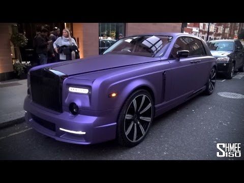 Purple Mansory Rolls-Royce Phantom in London