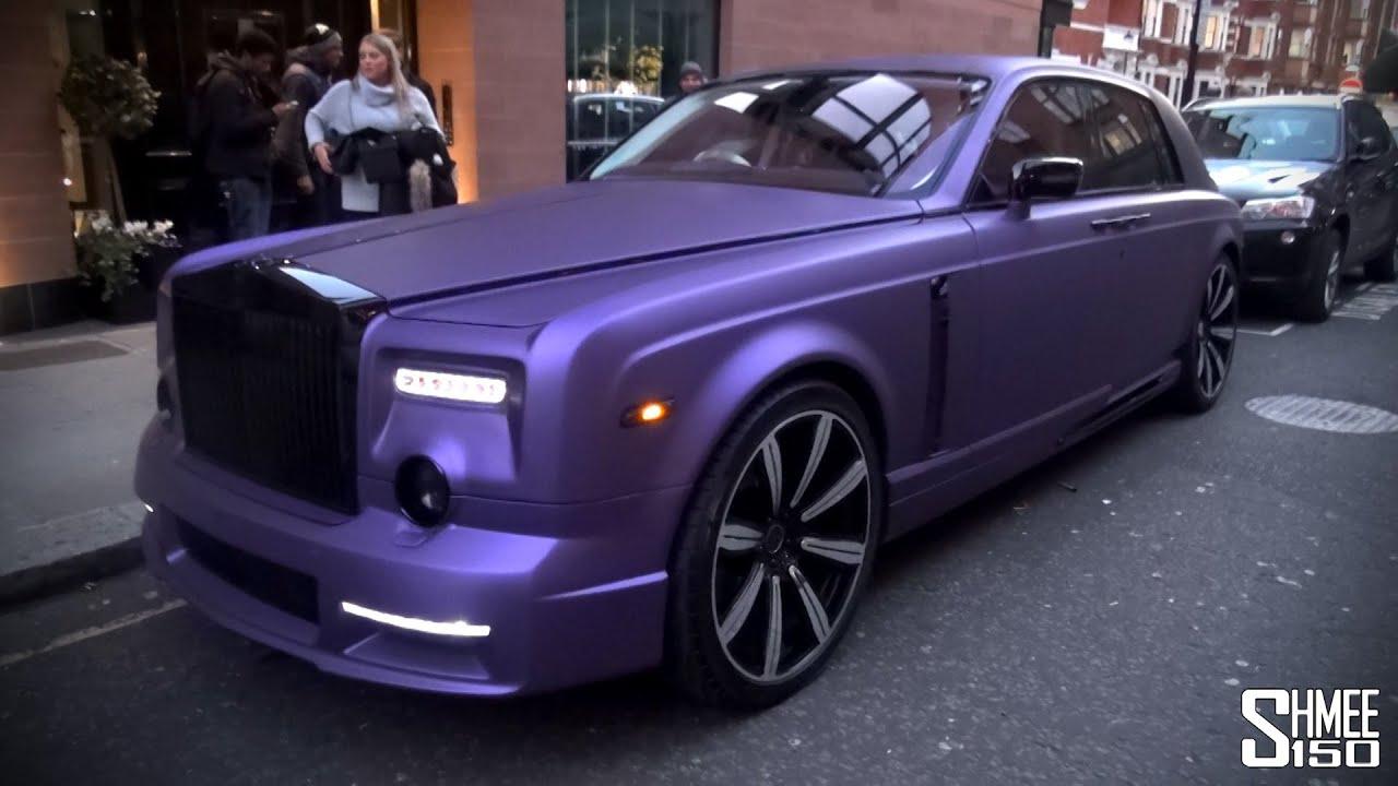 Purple Mansory Rolls Royce Phantom In London Youtube