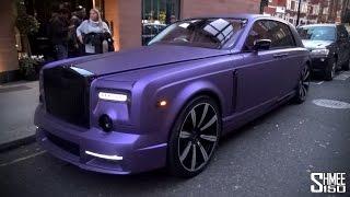 Purple Mansory Rolls-Royce Phantom in London