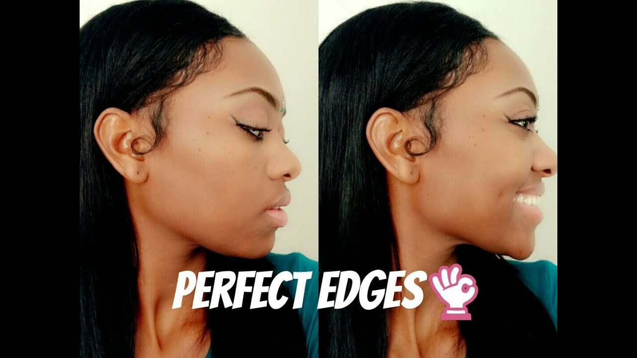 how to cut baby hair edges
