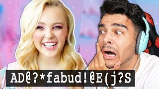 It Is IMPOSSIBLE To Understand A Word This Girl Says. (REACTING TO JOJO SIWA TRY NOT TO CRINGE)