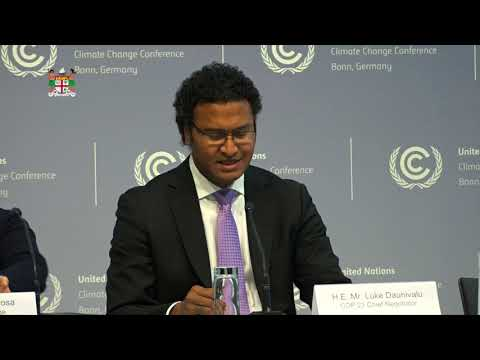 Fiji's COP23 Chief Negotiator - Remarks at the UNFCCC Opening Press Conference
