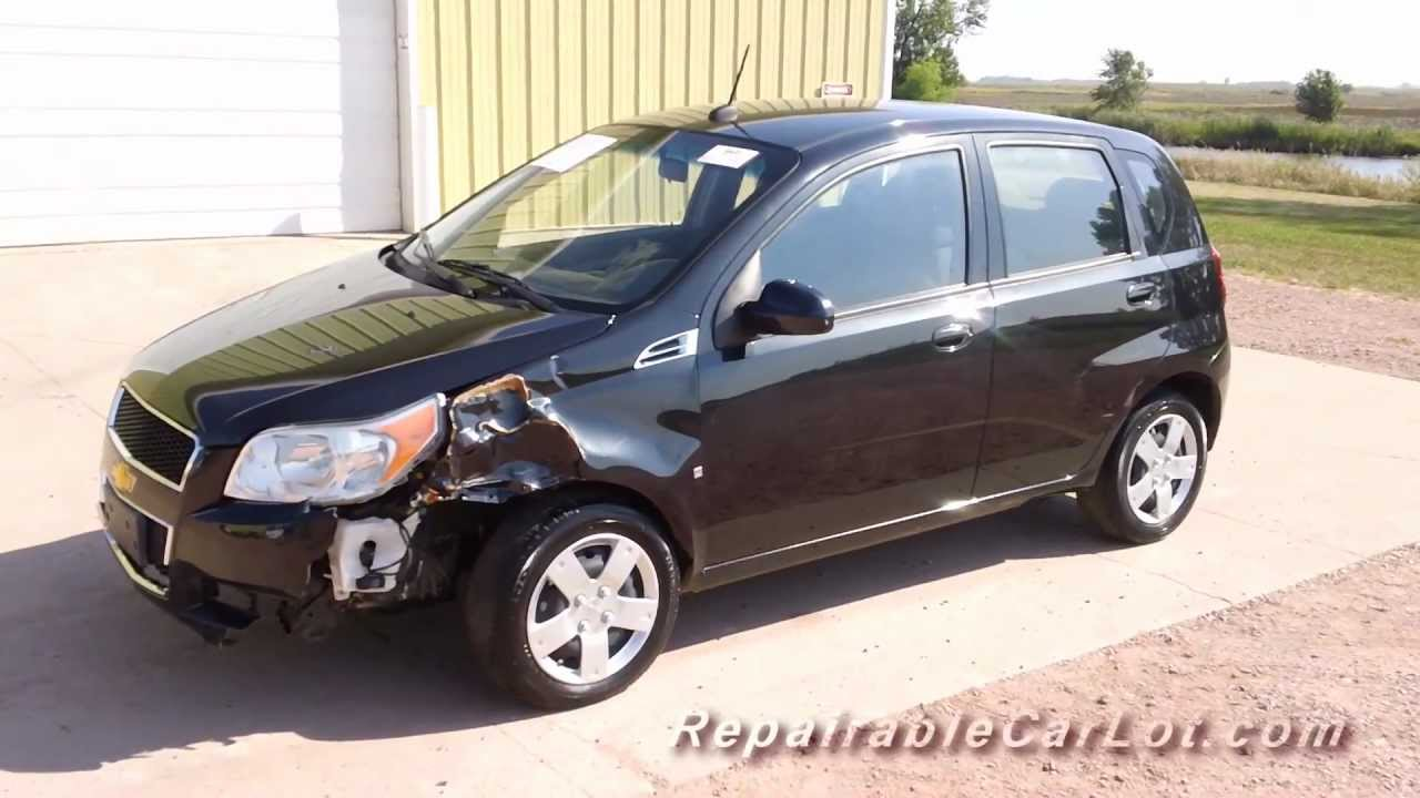 All Chevy chevy aveo 2009 : 2009 Chevrolet Aveo LT Hatchback - Repairable vehicle from ...