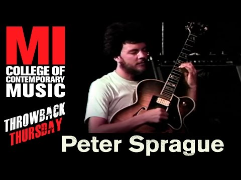 Peter Sprague Throwback Thursday From the MI Library