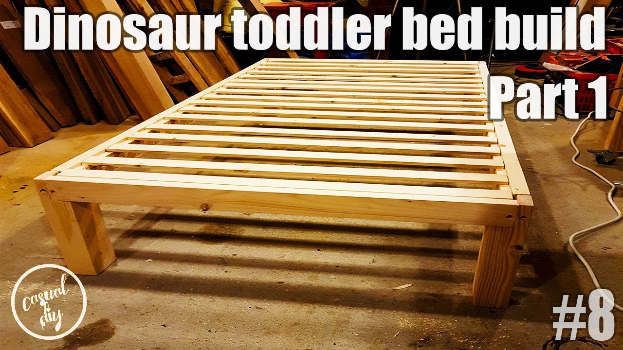 Dinosaur Toddler Bed Build