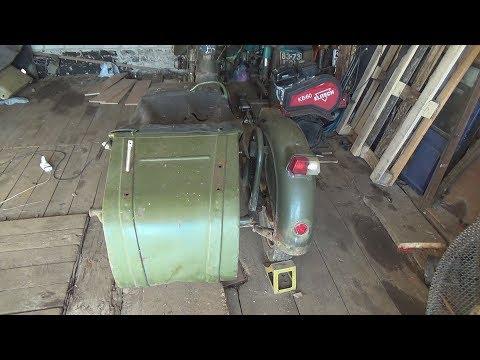 видео: Коляска мотоцикла Днепр.Интересные находки внутри