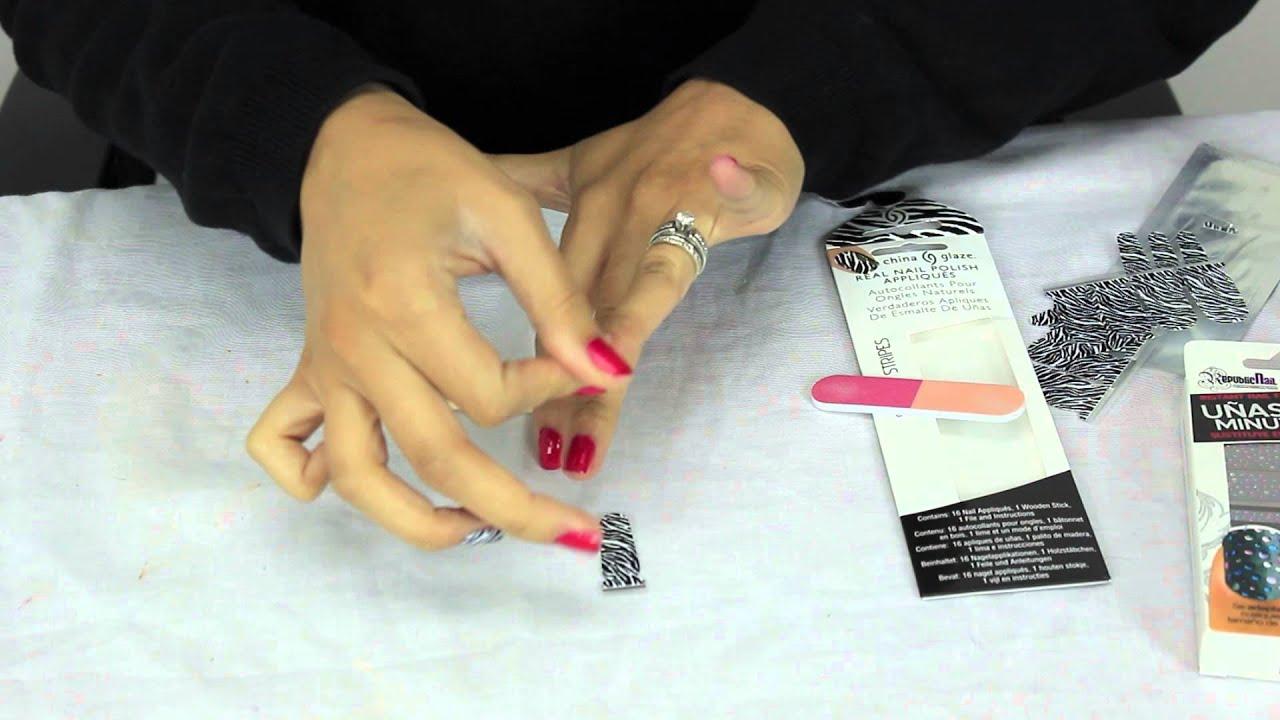 Uñas que duran: calcomanías - Nails That Last: Stickers - YouTube