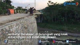 Download Video Jembatan Bendosari di Gunungpati  Sudah Bisa Dilewati MP3 3GP MP4