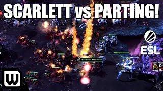 Starcraft 2: BLINK PROBE + CANNON RUSH CHEESE?! (Scarlett vs Parting)