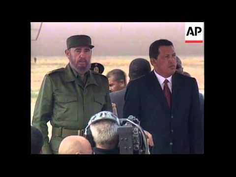 VENEZUELA: CUBAN LEADER FIDEL CASTRO VISIT