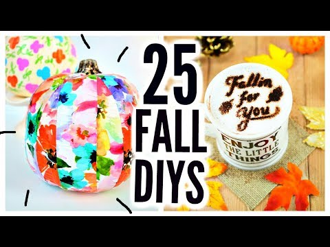 25 DIY Halloween & Fall Crafts! Room Decor, Party Ideas, Treats, Decorations