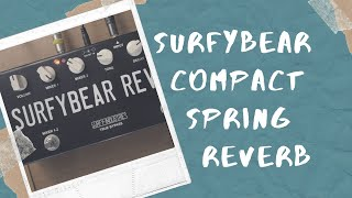 SurfyBear Compact by Surfy Industries - a Reverb Pedal with Real Springs!