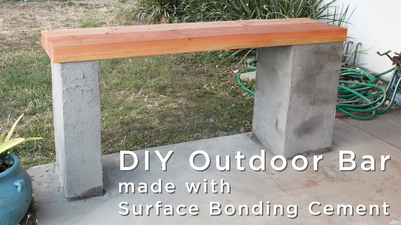 How To Make An Outdoor Bar Using Surface Bonding Cement   YouTube