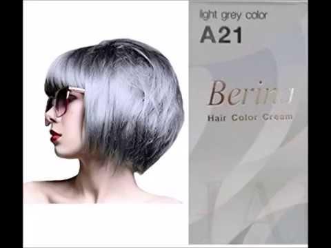 Permanent Grey Hair Dye Color Cream Berina No A21 Light Grey Color ...