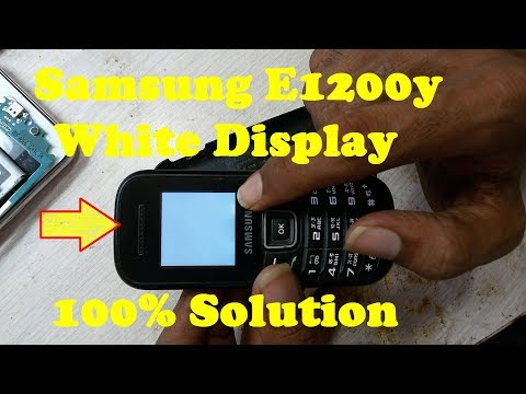 How To Repair Samsung E1200y White Display Solution 100% Tested