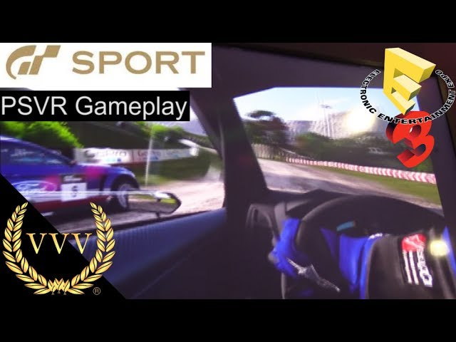 GT Sport - VR Mode PSVR Gameplay, New Rally Stage