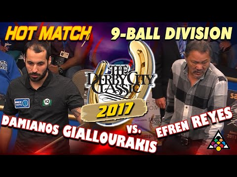 9-BALL: Damianos GIALLOURAKIS vs Efren REYES - 2017 DERBY CITY CLASSIC 9-BALL DIVISION