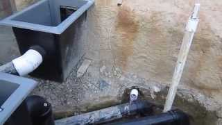 Koi pond construction part 9 - Sacramento koi filter system - lights - electrical