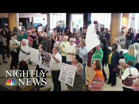 Thousands Demand Answers From Lawmakers At Town Halls Across The U.S. | NBC Nightly News