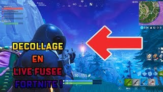 OMG REACTION EN LIVE DU DECOLLAGE DE LA FUSEE FORTNITE