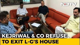 Arvind Kejriwal On Protest Again, This Time In Lt Governor's Waiting Room