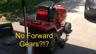 Fixing hydrostatic mower drive - no forward movement