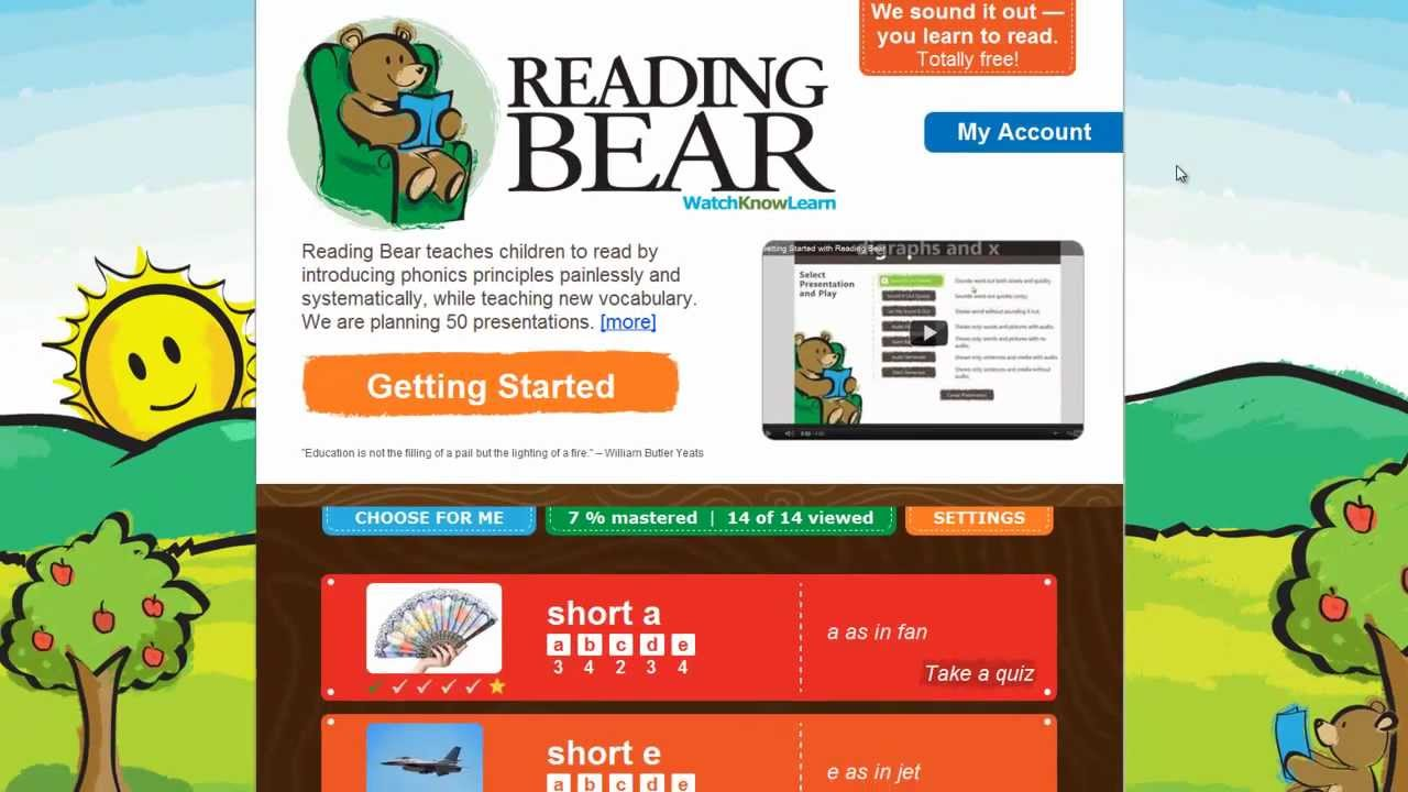 Worksheet Learn Phonics Online learning to read with reading bear free phonics tutorial youtube