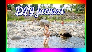 DIY huge and big jacuzzi at river