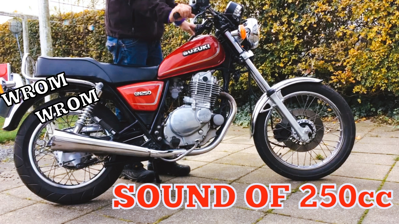 suzuki gn 250 sound flyby youtube. Black Bedroom Furniture Sets. Home Design Ideas