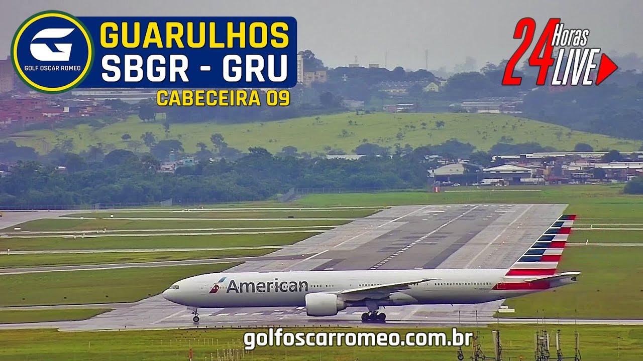 Download 🔴 SBGR LIVE 09 - GRU AIRPORT - AEROPORTO INTERNACIONAL DE SÃO PAULO/GUARULHOS - CÂMERA 24H FULL ATC